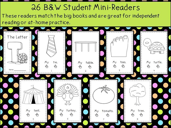 Alphabet Emergent Reader Library - simple text and cute pictures make these great for beginning readers