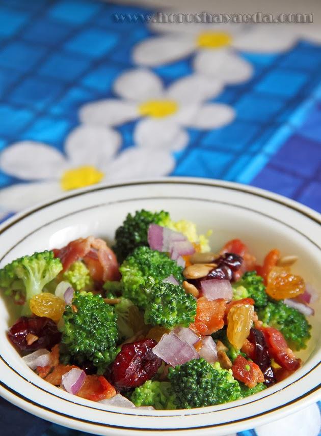 Пикантный салат из брокколи