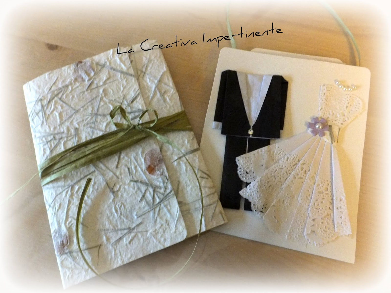 Amato La Creativa Impertinente: Scrapbooking Matrimonio: un biglietto  DO04