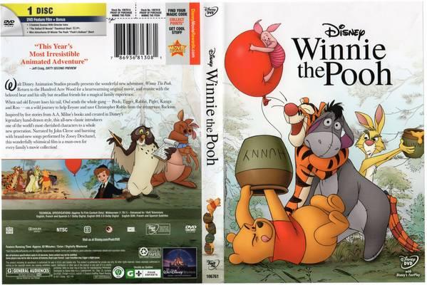 DVD cover Winnie the Pooh 2011 Disney movie
