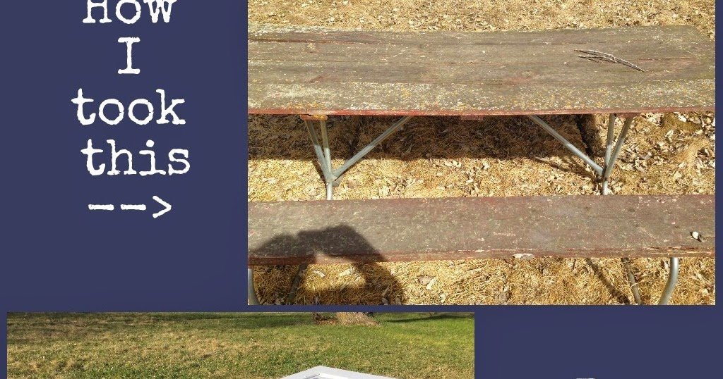 The Dabbling Crafter Gone Junkin Diy Picnic Table Upcycle