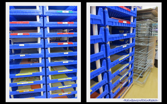photo of: Art Room Shelving + Drying Rack (via Art Room RoundUP from RainbowsWithinReach)