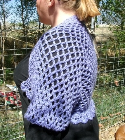Copper Llama Studio Plus Size Fish Net Crochet Shrug Pattern