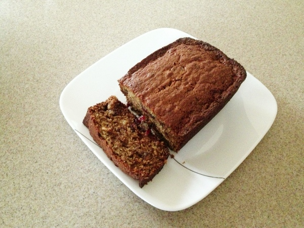Whole Wheat Cranberry Banana Nut Bread