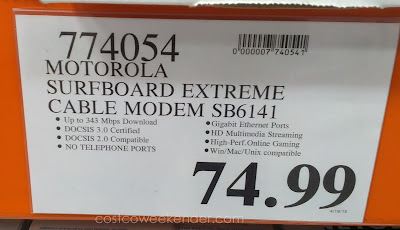 Deal for the Motorola Surfboard SB6141 Cable Modem at Costco