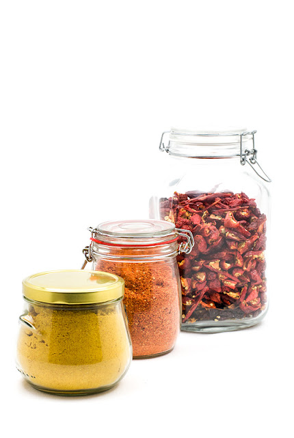 Chili powder in jar