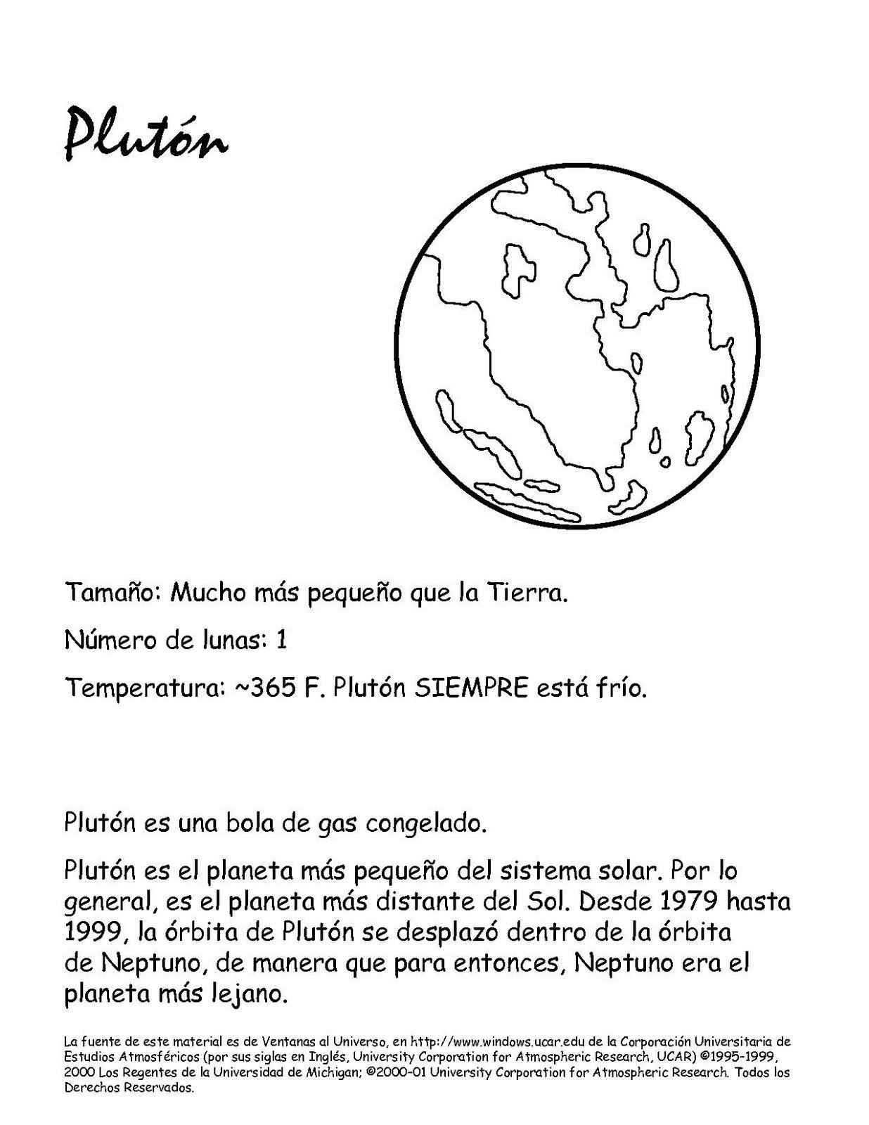 Colorear PLANETA ENANO PLUTON