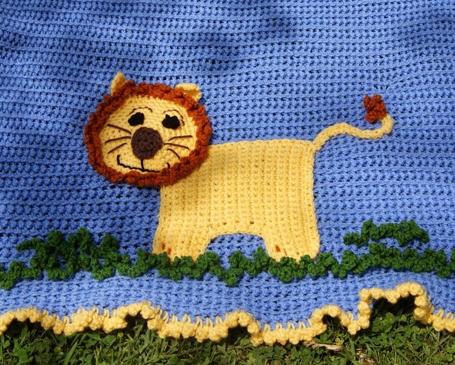 www.RAKJpatterns.com, free crochet pattern, lion blanket, blanket crochet pattern