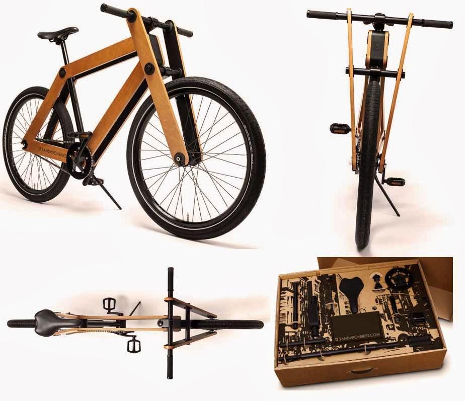 The Sandwichbike is wooden-framed bikes