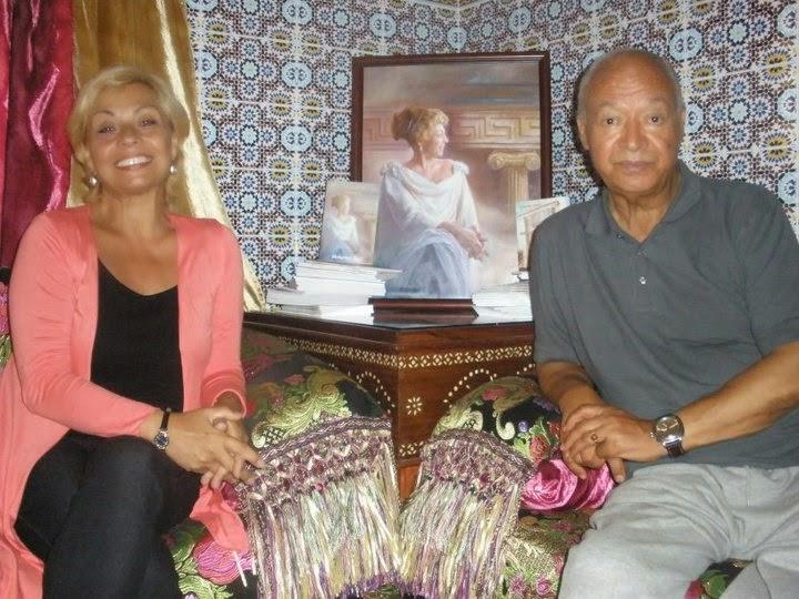 Mohamed Sibari y Julia Herrera