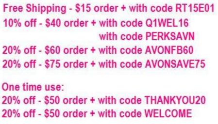 Avon Current Discount Codes