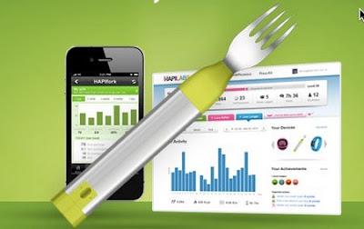 TENEDOR+SUPERMODERNO EL FUTURO: HapiFork controla nuestros hábitos alimenticios NEWS