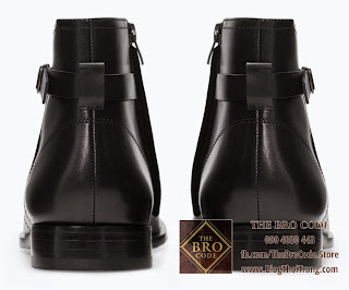 Giày Chelsea Boot Có Khóa Zara | Zara Leather Chelsea Boot With Buckle