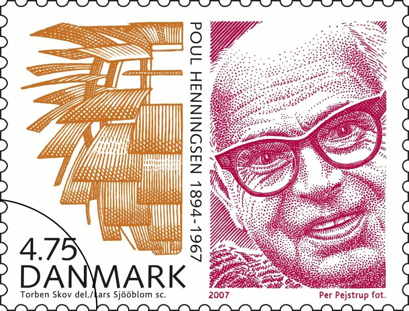 'Store danskere' frimærke 2007, Poul Henningsen 1894-1967