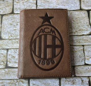 Dompet Kulit Pria Logo AC Milan, kode DS330