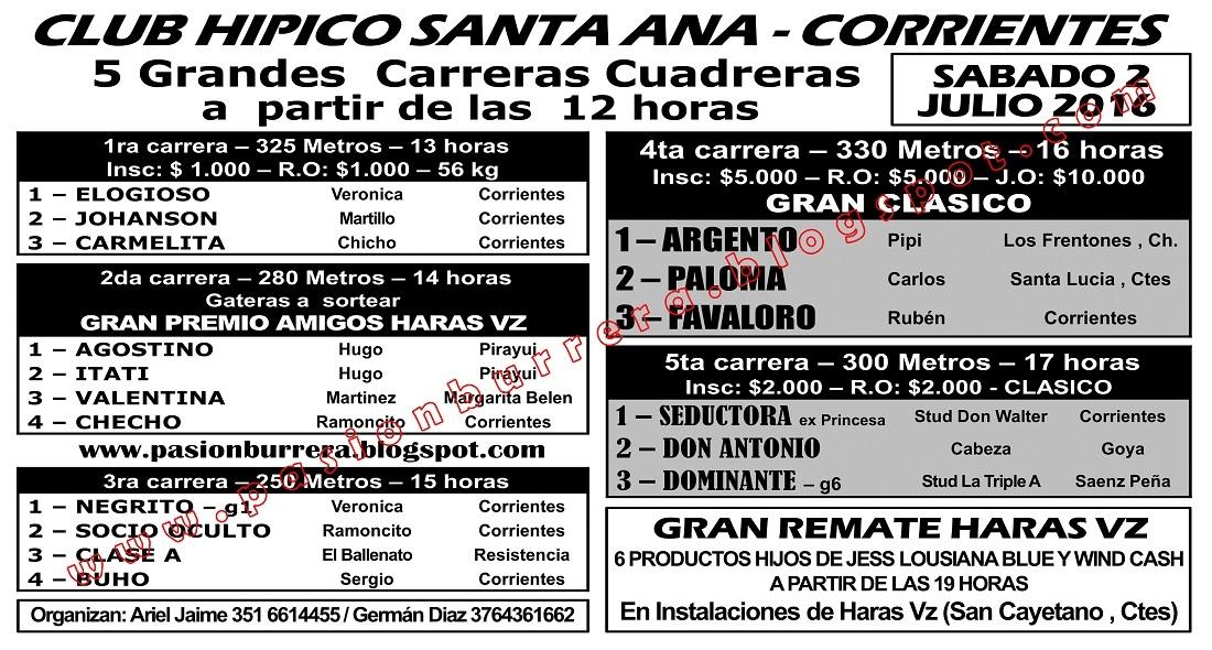 Santa Ana - 2 - Programa