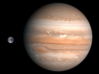 earth compared to jupiter Earth & jupiter comparison size distance to scale