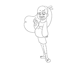 #12 Mabel Pines Coloring Page