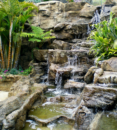The tenacious gardener garden overhaul for Ornamental pond waterfall
