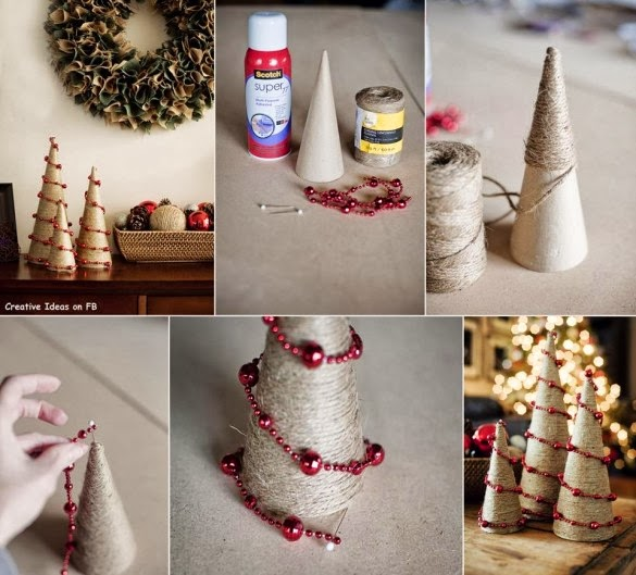 How to recycle diy christmas decor tutorials for Do it yourself christmas tree decorations