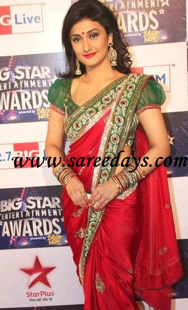 Latest saree designs ragini khanna in red designer saree at big latest saree designs ragini khanna in red designer saree at big star entertainment awards thecheapjerseys Images