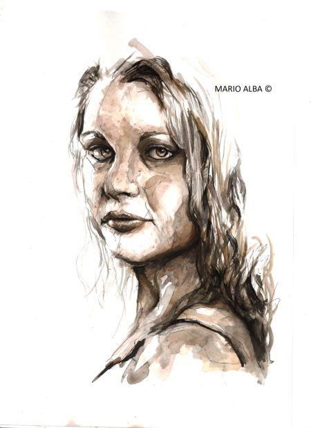 Mario Alba pinturas aquarela mulheres sensuais