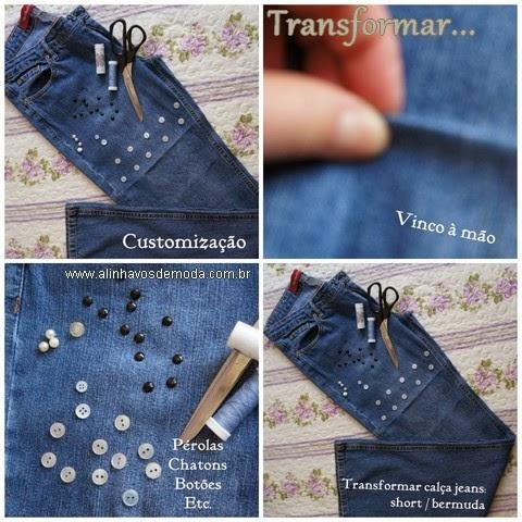 Como cortar o velho jeans e transformar em short novo