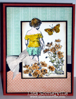 Stamps - La Blanche Pondering Child