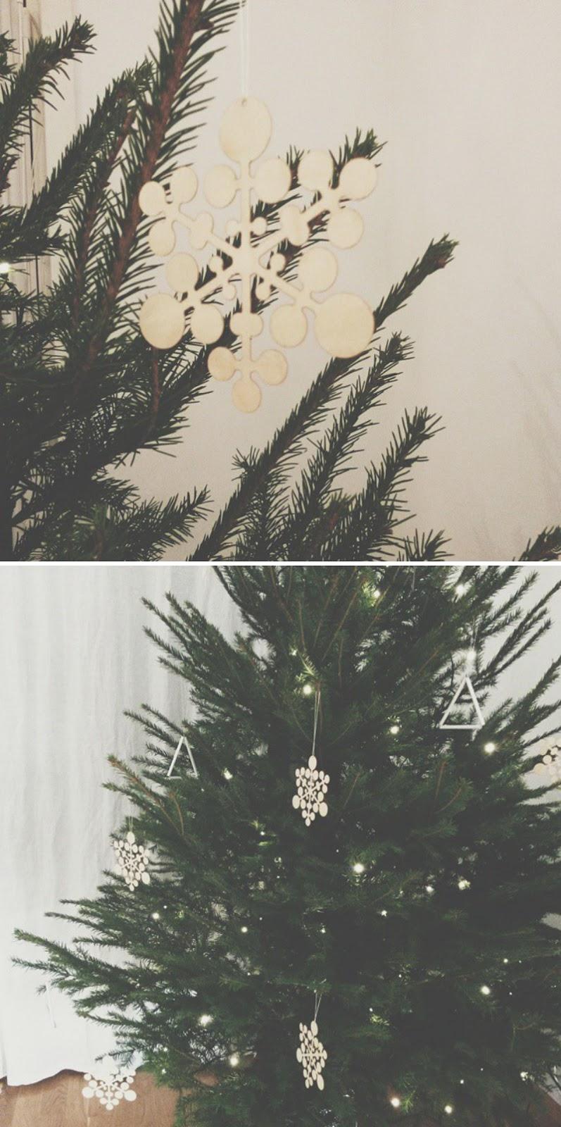 Vaneriset joulukuusen koristeet