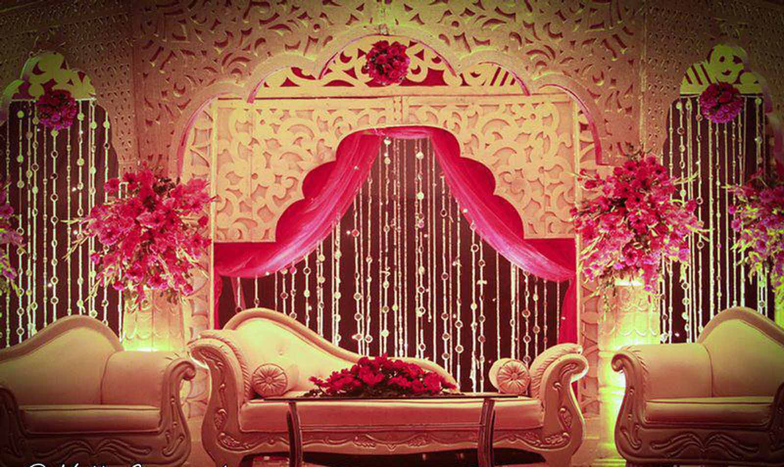 Wedding hall desing pics joy studio design gallery for Hall decoration pictures