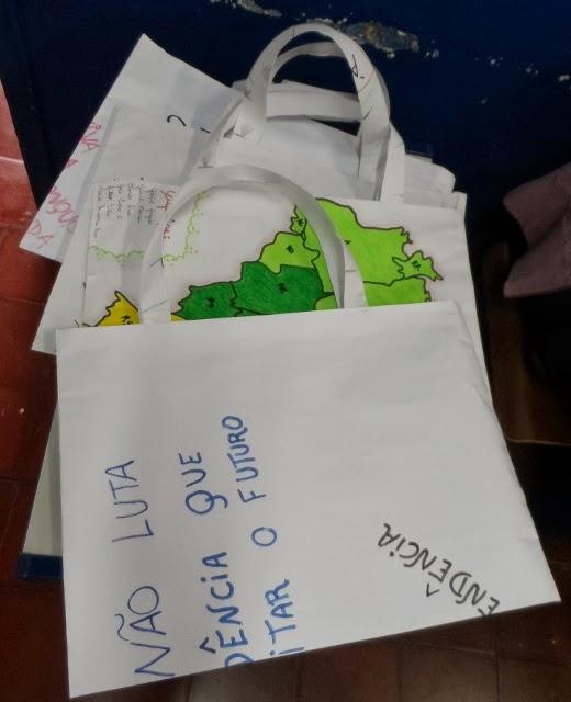 Ecobags utilizadas nas salas de Educação Infantil
