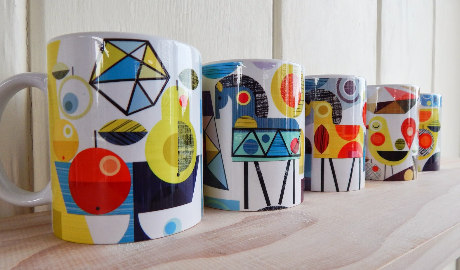 Ceramic mugs, cushions and totes!