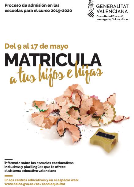 PROCESO DE MATRICULACIÓN 2019-20
