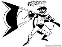 Mewarnai Gambar Robin