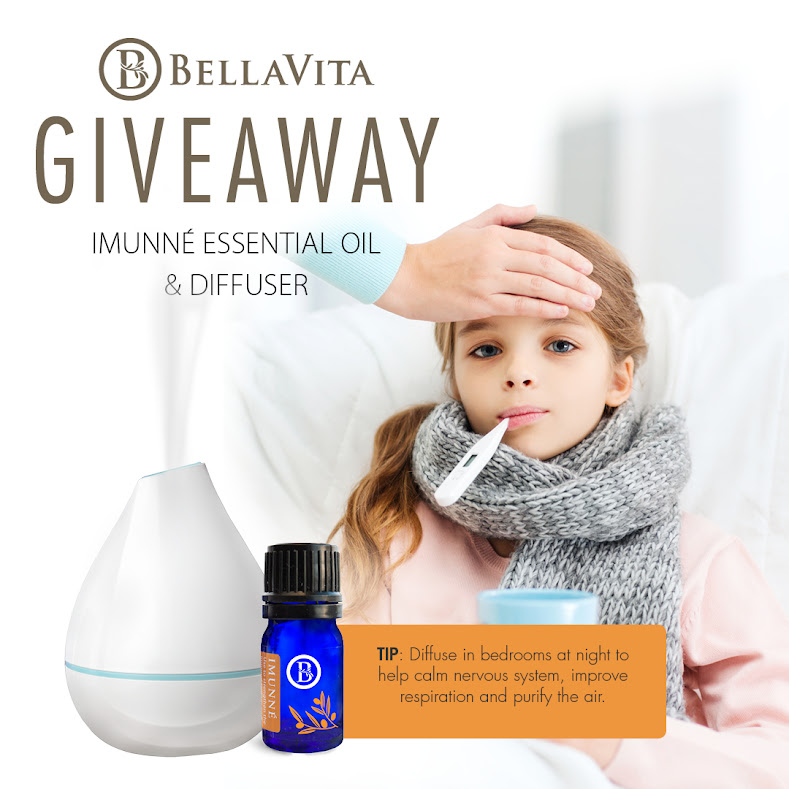 BellaVita Essential Oil and Diffuser Giveaway on Facebook!!