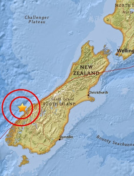 Magnitude 4.8 Earthquake of Queenstown, New Zealand 2015-05-06