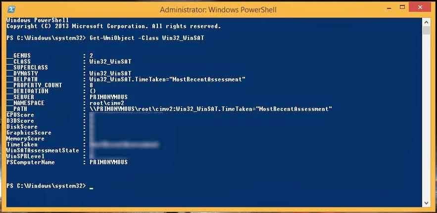 Cara Melihat Skor Windows Experience Index di Windows 8.1
