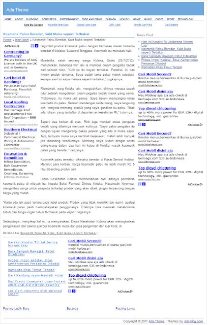 Adsense Blogger Templates Free Simple Adsense Blogspot Templates | Blogger SEO Template