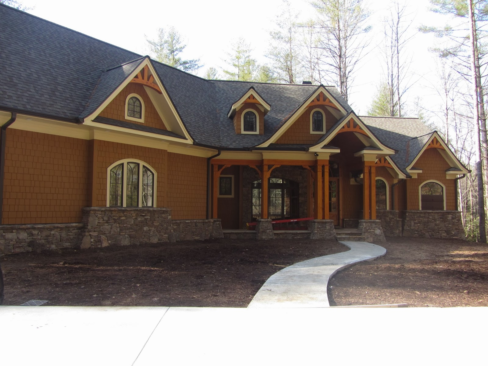 Garrell associates nantahala cottage gable Nantahala house plan