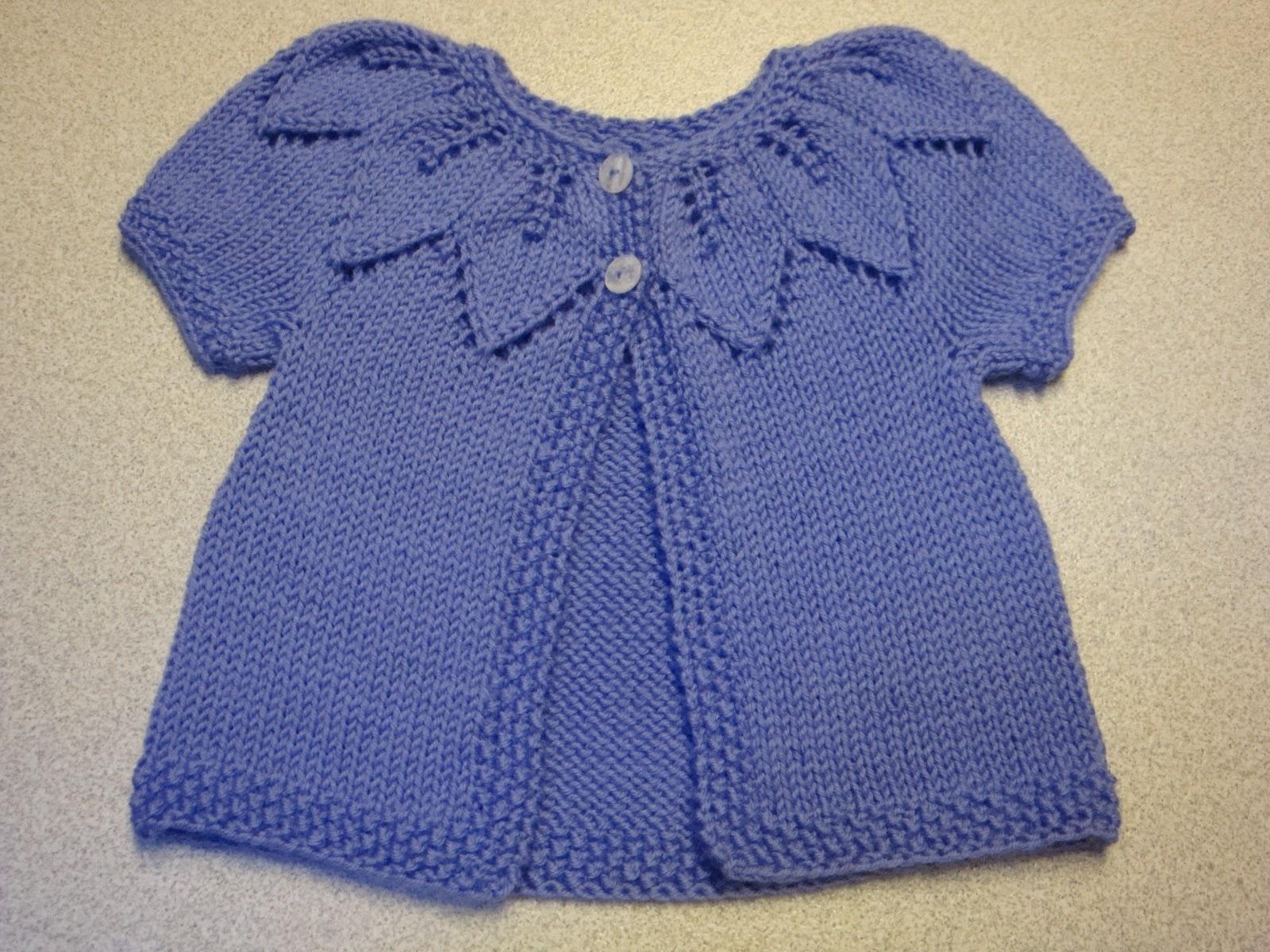 Knit Leaf Pattern Baby Sweater : Kims Knitting Korner: Lavender Leaves: A sweet sweater ...