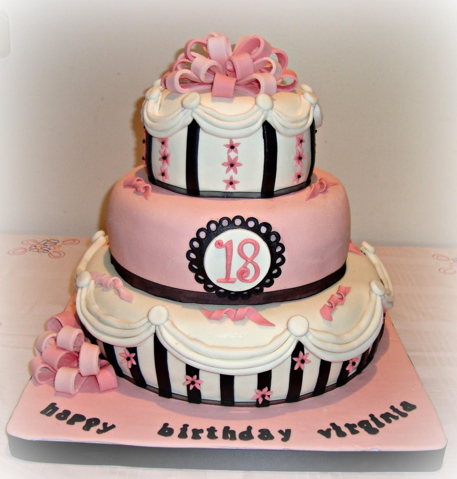 Le torte decorate torta 18 anni coccarda for Torte per 18 anni maschile