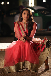 Actress Kajal Agarwal Latest Pictures in Pink Long Dress in Sarocharu Movie  0011