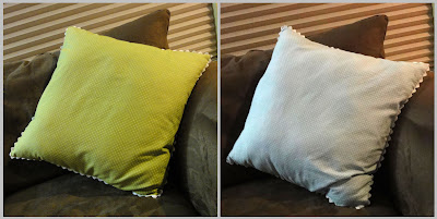 Stacey pillow, front and back