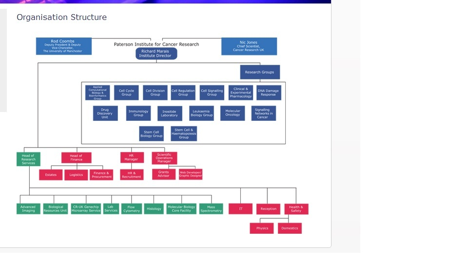 cancer research uk organisational structure The institute of cancer research, london, operates as a research institute,  its  structure and governance arrangements reflect these multiple organisational.