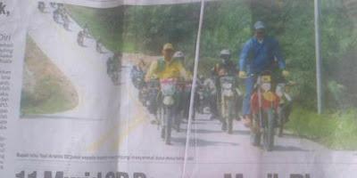 Bupati Tak Pakai Helm Ancam Demo DPRD