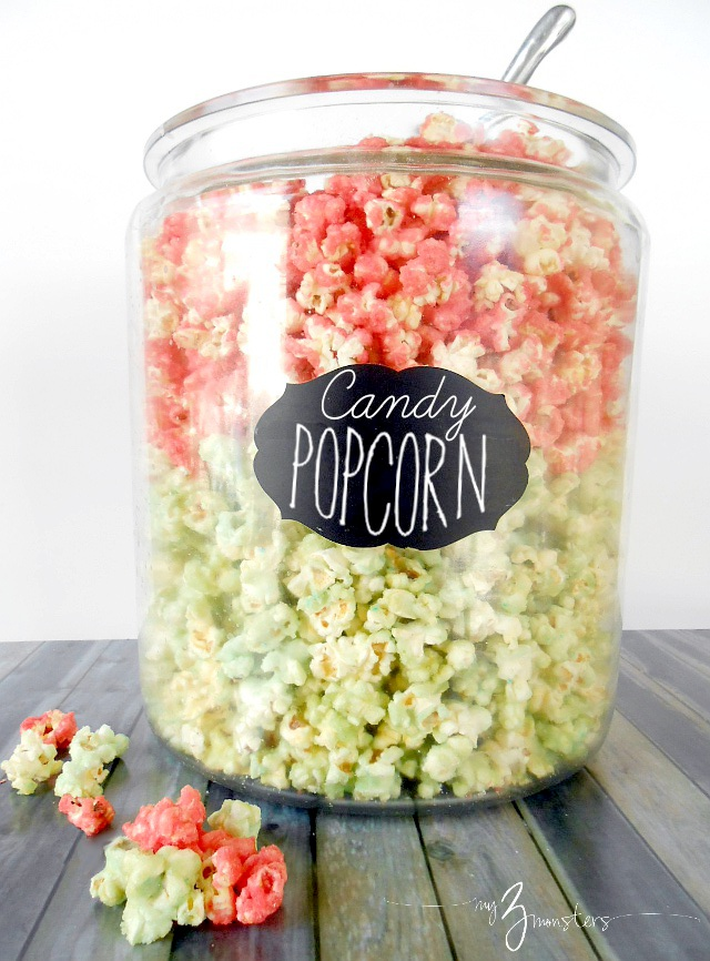 Delicious Jello Candy Popcorn recipe {with free printable recipe card} at my3monsters.com