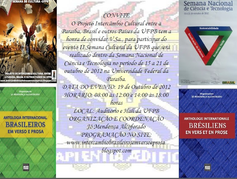 CONVITE DO PROJETO DE INTERCÂMBIO CULTURAL DA UFPB