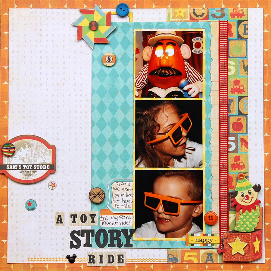 Toy Story_Disney_Scrapbook Page