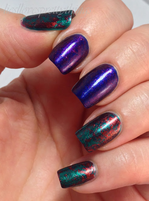 Zoya Satins collection saran wrap manicure