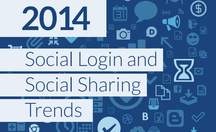 Global Social Login Trends Across the Web for Quarter 4 2014 - #infographic The Landscape of Social Login